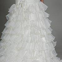 Bohatá sukňa v A-línií a vzdušná organza